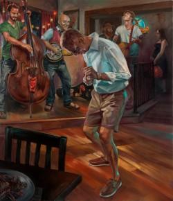 Prometheus Band, 2011, 70x60 inches, o/c, Credit: Johnson