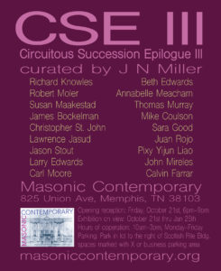 CSE III - Circuitous Succession Epilogue III @ Masonic Contemporary at Memphis Scottish Rite | Memphis | Tennessee | United States